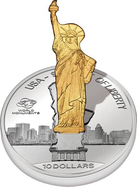 10 Dollars Cook-Inseln USA - Statue of Liberty 2016