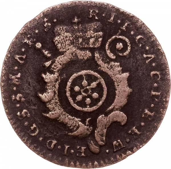 1 Pfennig Erfurt Erzbischof Johamm Friedrich Karl von Ostein 1769 - 1771