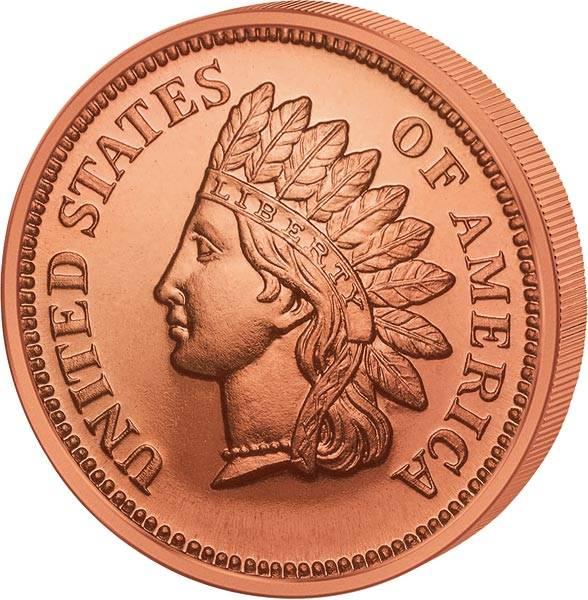 1 AVDP-Unze Kupfer Indian Head