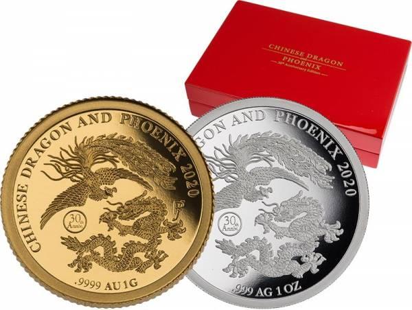 1 + 5 Dollars Fidschi Drache und Phönix 2020