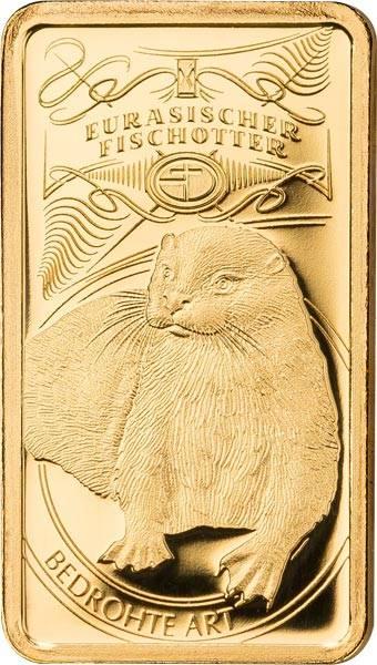 Goldbarren Eurasischer Fischotter