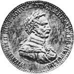 Taler  Wilhelm II. 1821-1822  Sehr schön