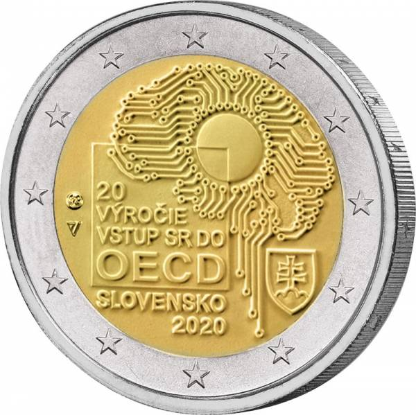 2 Euro Slowakei 20. Jahrestag des Beitritts zur OECD 2020