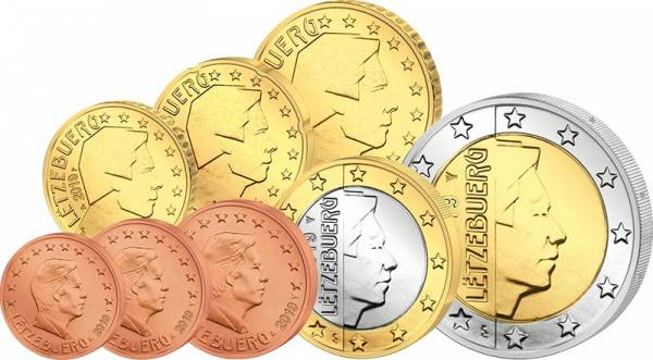 Euro-Kursmünzensatz Luxemburg 2019