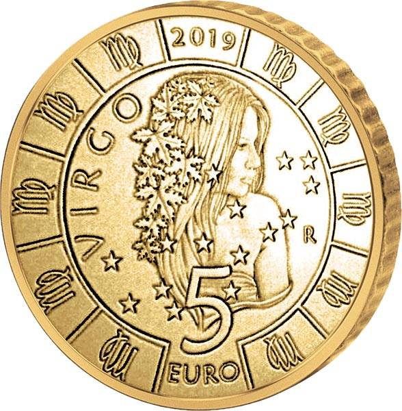 5 Euro San Marino Tierkreiszeichen Jungfrau 2019