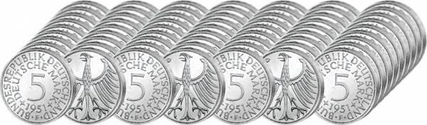 72 x 5 DM BRD Silberadler Jahrgangskollektion