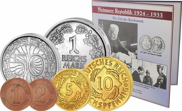 1 Reichspfennig bis 1 Reichsmark Weimarer Republik Wechselgeld
