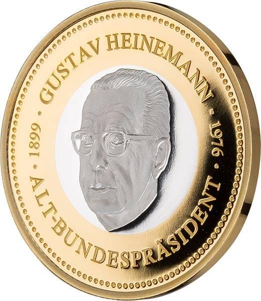 Gedenkprägung Gustav Heinemann