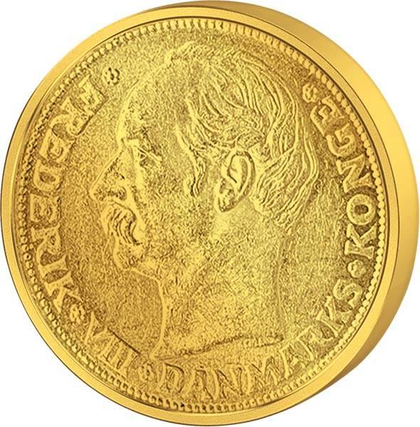 10 Kronen Dänemark Frederik VIII. JuW