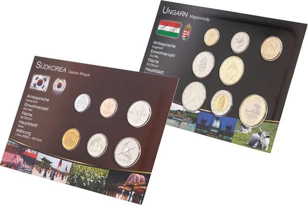 Premium-Kursmünzen-Set Südkorea und Ungarn