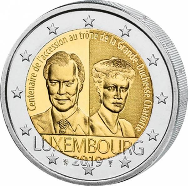2 Euro Luxemburg 100 Jahre Thronbesteigung Großherzogin Charlotte 2019