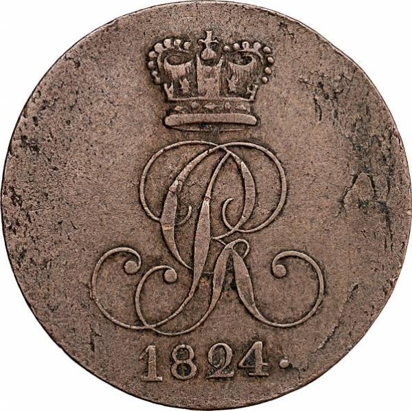2 Pfennig Hannover König Georg IV. 1821-1830