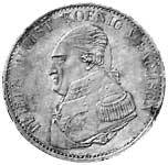 Taler Konventionstaler Friedrich August I. 1822-1823 Sehr schön