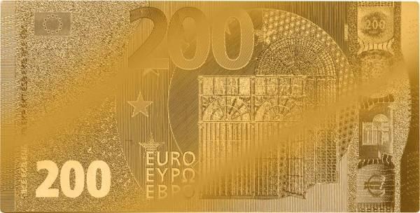 200 Euro BRD Goldfolien-Banknote 2019
