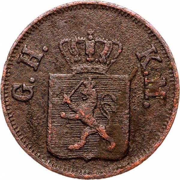 1 Heller Hessen-Darmstadt Großherzog Ludwig II 1847