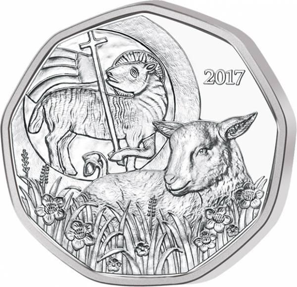 5 Euro Österreich Osterlamm 2017