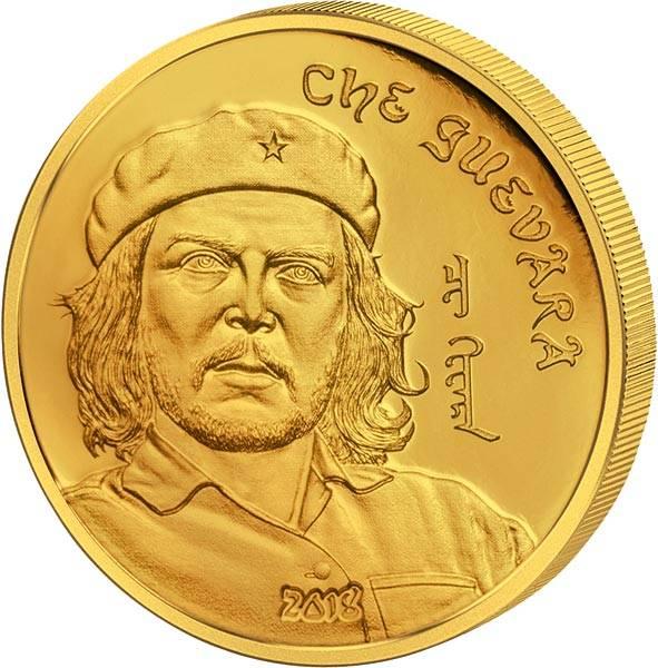 1.000 Togrog Gold Mongolei Che Guevara 2018