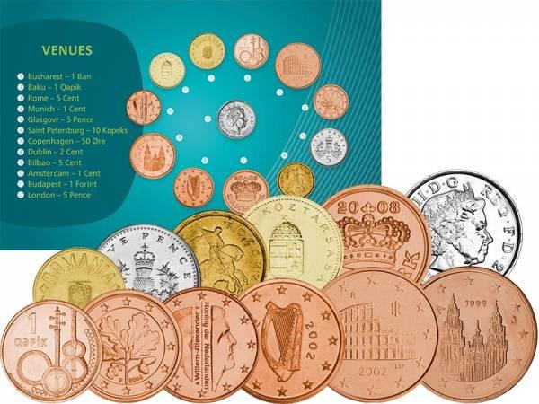 Kursmünzen-Set Europa Fußball-Europameisterschaft 2020