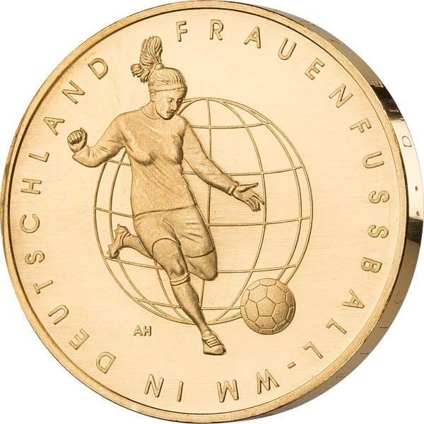 10 Euro BRD FIFA Frauenfußball WM 2011 vollvergoldet