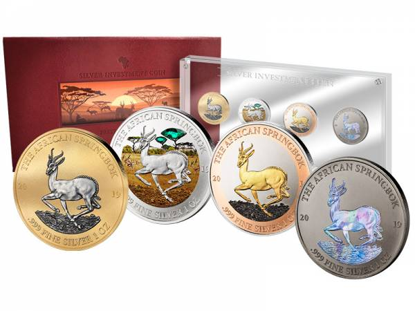 Silver Investment Coin Prestige-Set Springbock 2019