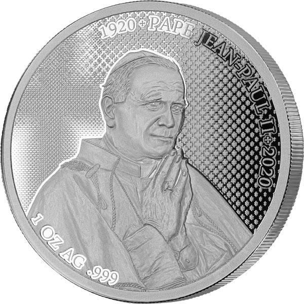 1.000 Francs Benin 100 Jahre Papst John Paul II. 2020