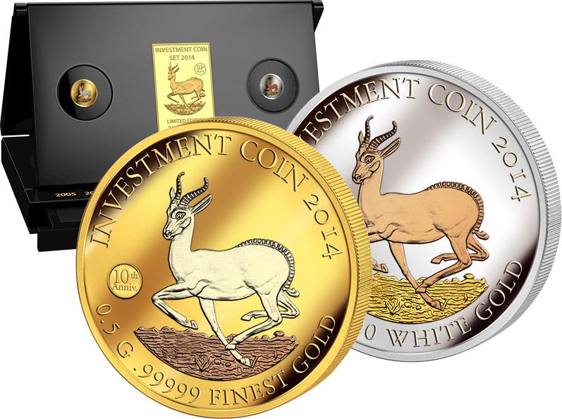 Investment Coin Springbock Exklusive Münzen Münzenversandhaus