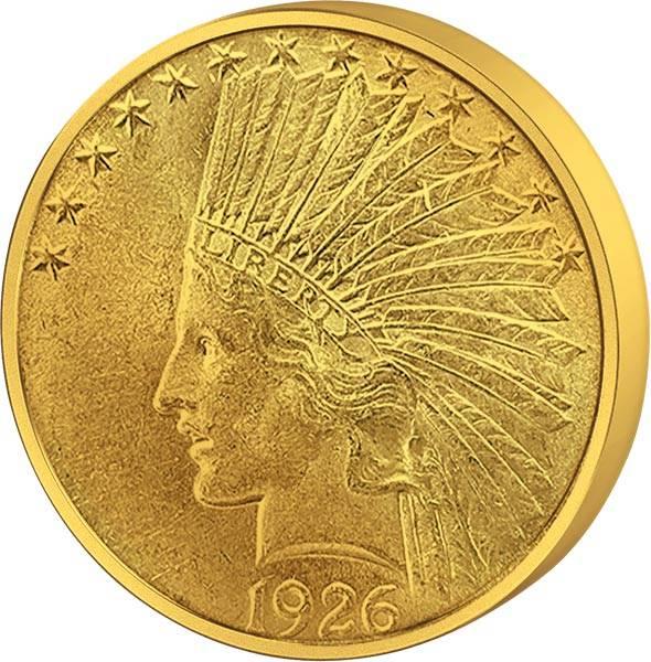 10 Dollar USA Indianerkopf