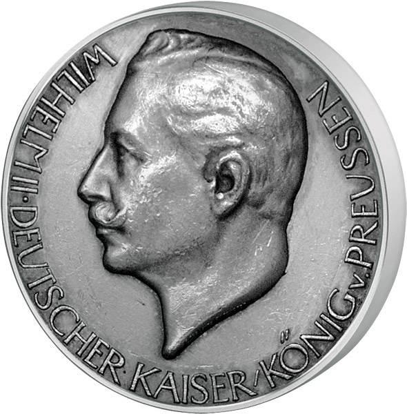 Silbermedaille Deutsches Kaiserreich Thronrede Kaiser Wilhelms II.