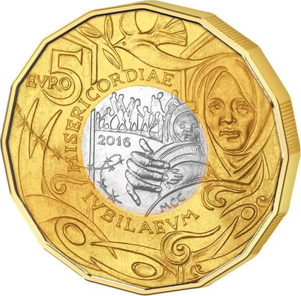 5 Euro San Marino Jubiläum der Barmherzigkeit