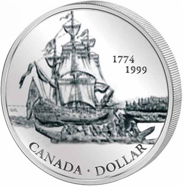 1 Dollar Silberdollar Fregatte Santiago 1999  Polierte Platte
