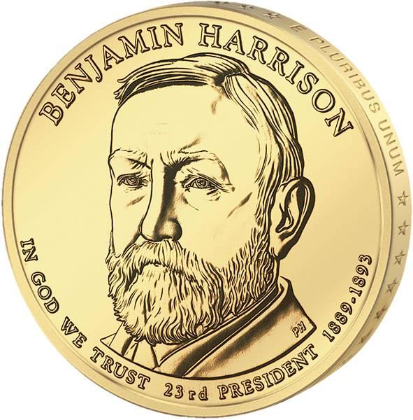 1 Dollar  USA Benjamin Harrison  2012  Stempelglanz