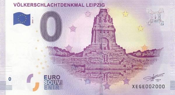 0-Euro-Banknote Völkerschlachtdenkmal Leipzig 2019