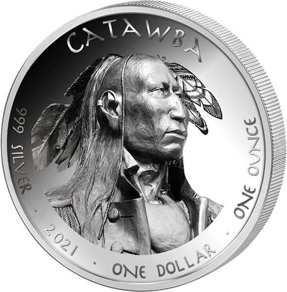 1 Dollar USA Native State Dollar Tennessee Catawba Salamander 2021