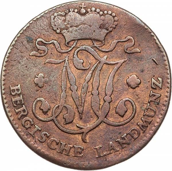 1/ Stüber Jülich-Berg Herzog Maximilian II. Joseph 1802 - 1805