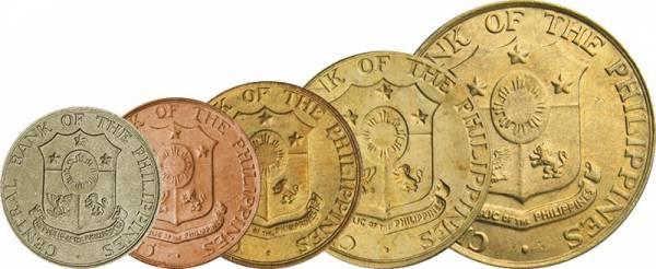 1 - 50 Centavos Philippinen Kursmünzen-Set 1958-1966