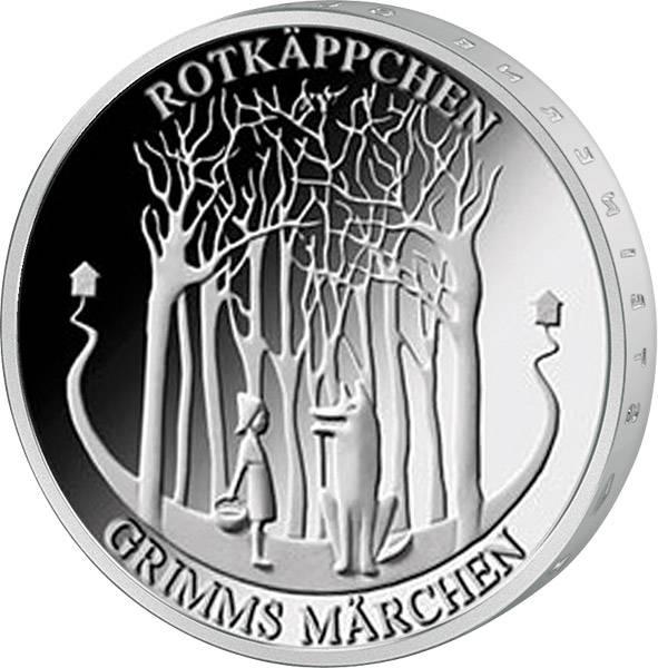 20 Euro BRD Grimms Märchen Rotkäppchen 2016
