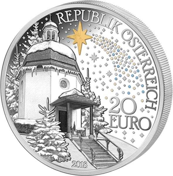 20 Euro Österreich 200 Jahre Stille Nacht 2018
