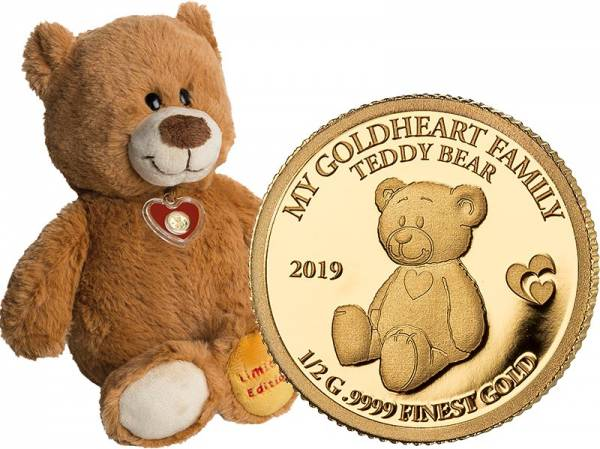 10 Dollars Salomonen My Goldheart Family Teddybär 2019