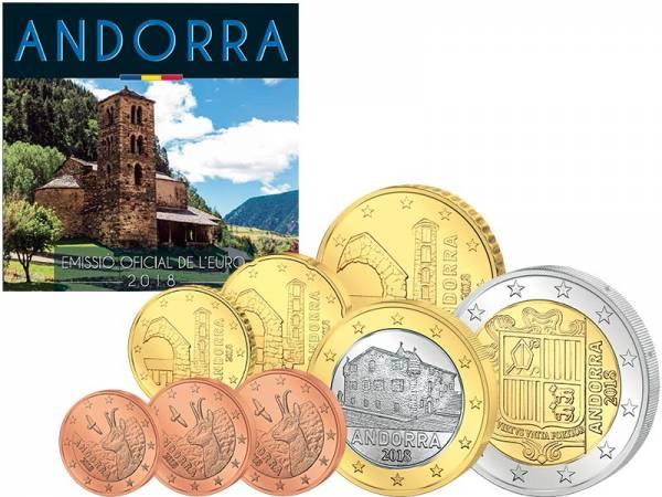 Euro-Kursmünzensatz Andorra 2018