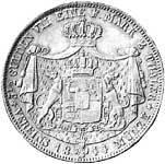 Doppeltaler Silber Carl Fürst zu Hohenzollern 1844-47 ss-vz