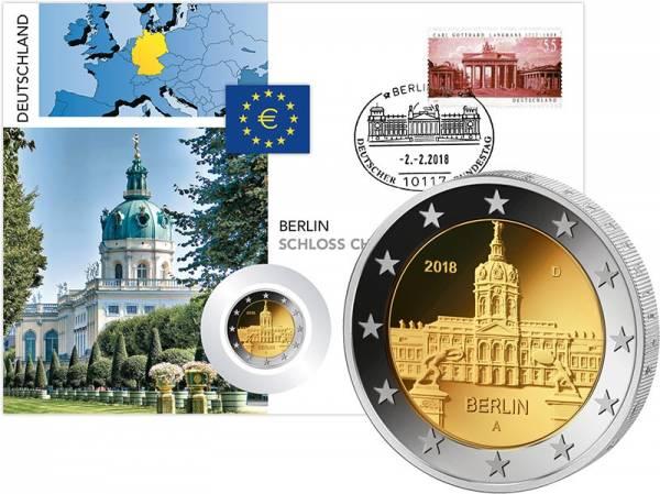 2 Euro Numisbrief BRD Berlin Schloss Charlottenburg 2018