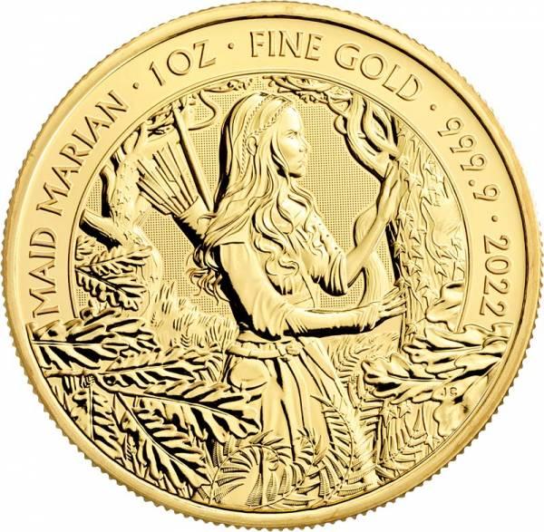 1 Unze Gold Großbritannien Maid Marian 2022