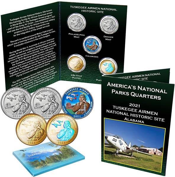 5 x 25 Cents USA Tuskegee Airmen 2021