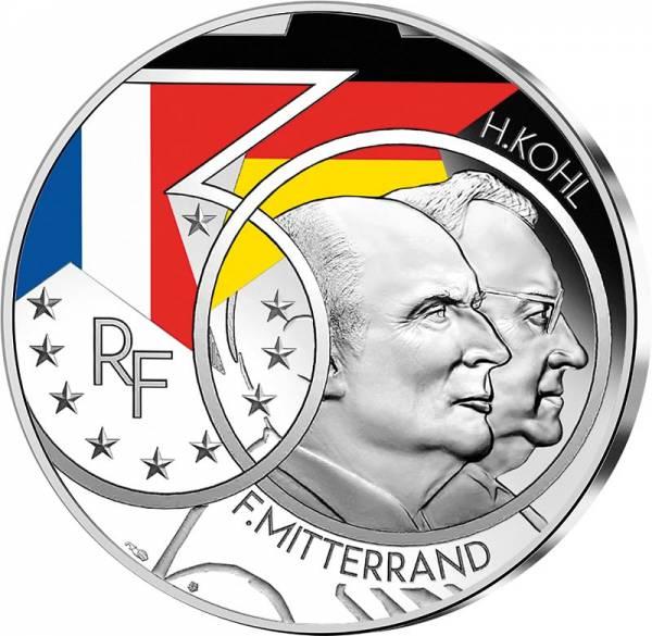 10 Euro Frankreich Mitterand und Kohl - 30 Jahre Wiedervereinigung 2020