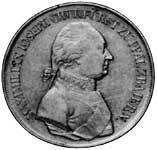 Taler Konventionstaler Maximilian Joseph 1804-1805 Vorzüglich