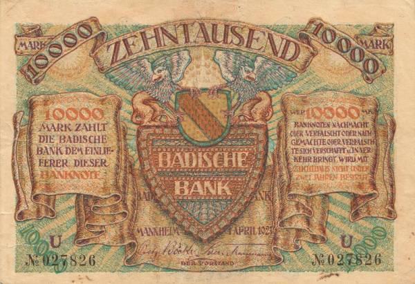 10.000 Mark Baden 1923