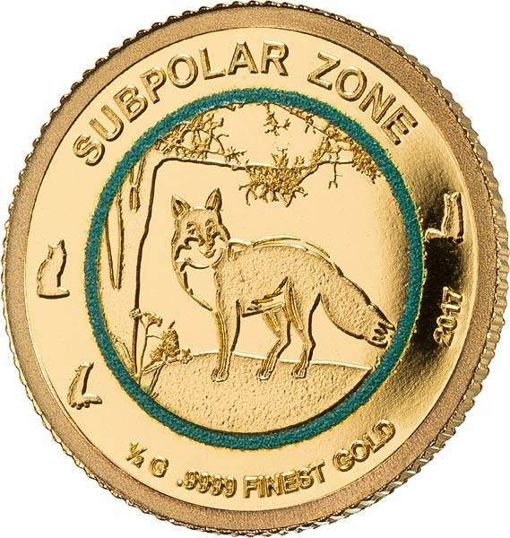 1.000 Francs Guinea Subpolare Zone Polarfuchs 2017