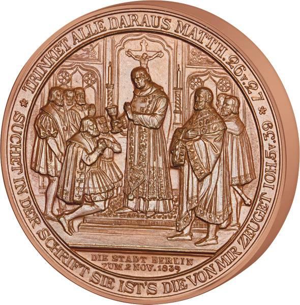 Bronzemedaille Berlin Reformation in Brandenburg