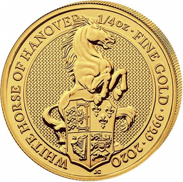 1/4 Unze Gold Großbritannien Queens Beasts Pferd von Hannover 2020
