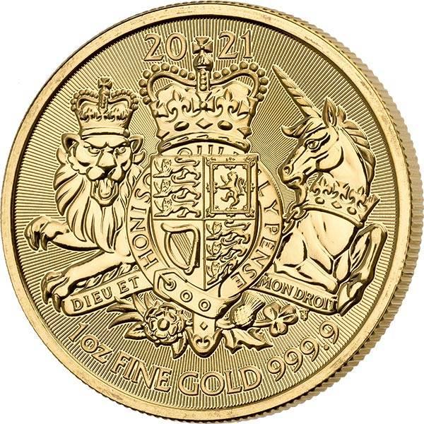 1 Unze Gold Großbritannien Royal Arms 2021